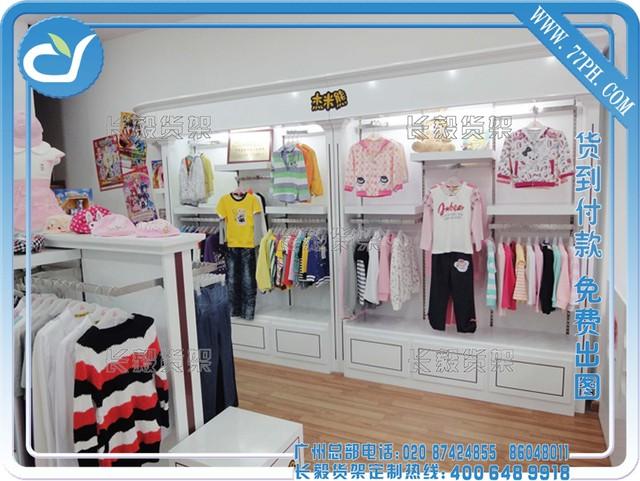 商场中岛柜效果图,小型童装店装修货架,小母婴店装修效果图,童装店