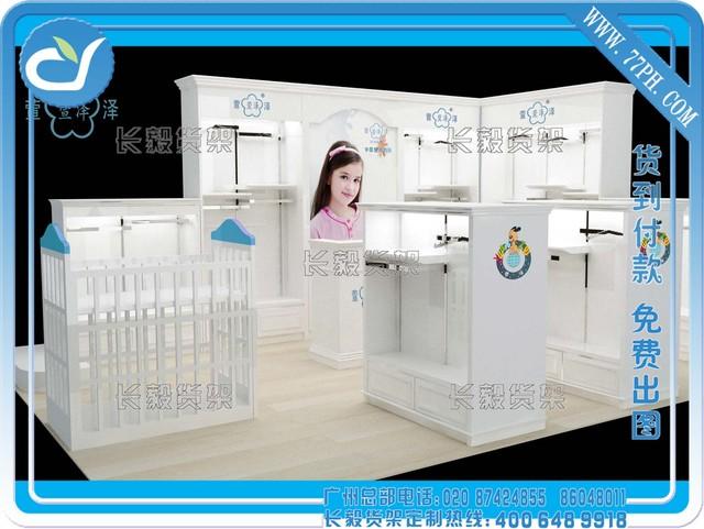 童装店装修设计,商场中岛柜效果图