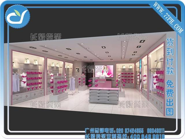中島柜圖片,10平米內衣店裝修圖,內衣店裝修效果圖,內衣展柜,廣州女裝